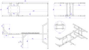 vertical knee raise chin dip machine plan assembly drawing