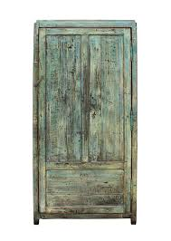 details about chinese distressed blue green tall iron lock armoire wardrobe cabinet cs2312
