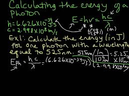 calculating the energy of a photon given wavelength