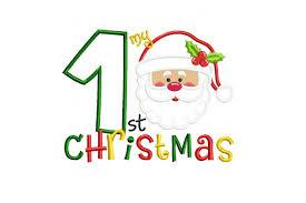First Christmas Applique Design My 1st Christmas Applique Machine Embroidery Design
