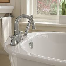 suit your style the wide deck allows you to mount a faucet that showcases your style whether it s vintage bronze with a handshower or polished chrome with