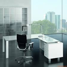 office x7 02v executive office desk with glass top white structure and wite