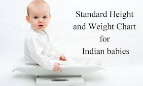 Baby Weight Chart Indian Girl Age Wise Height And Weight Chart For Indian Baby Boys And