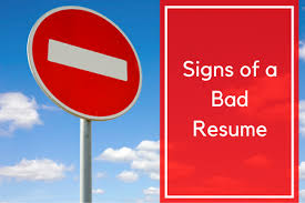 Bad Resume Wonderful 3524 Signs Of A Bad Resume