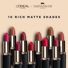 l oreal paris color riche moist matte lipstick sabyasachi collection at nykaa
