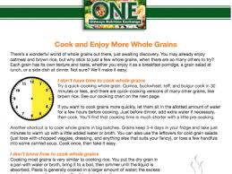 Cook And Enjoy More Whole Grains