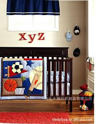 baseball bed set printing embroidery basketball football pattern baby bedding quilt per mattress cover crib in
