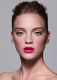 bright pink lipstick clean eye makeup fashion makeup amber carroll auckland