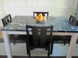 agreeable dark square marble top dining table black wooden armless chairs ideas with tables for
