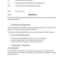 Handover Takeover Letter Format Best Of Resignation Cruch