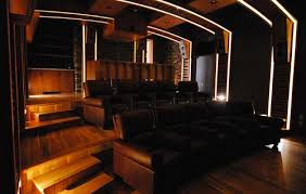 home theater step lighting. the arch lighting is a design element while path on steps adds safety home theater step i