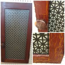 perforated metal screen door. Vintage Cabinet Door With Perforated Metal Screen For Jewlry Rack. (New Paint On The E