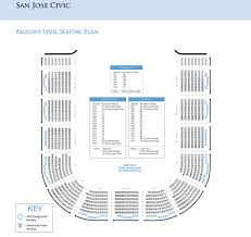 Sfjazz Seating Chart Seating Charts San Jose Theaters