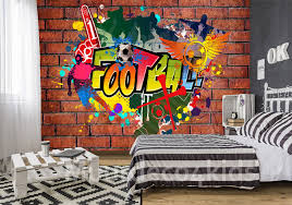 Graffiti Behang Voor De Voetbal Fan