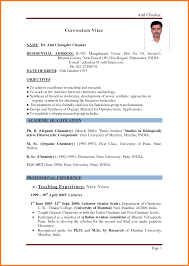 9 Teacher Resume Format Resume Cover Note