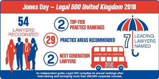 Graphic Design Ranking Uk Legal 500 United Kingdom 2018 Recognizes 54 Jones Day