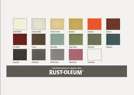 Rust Oleum Chalk Paint Color Chart Rust Oleum Colour Rust