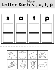 Free Letters sorting cut and paste activity >> Review initial ...