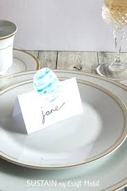 Table Setting Templates Dinner Place Cards Popular Template For Name Setting