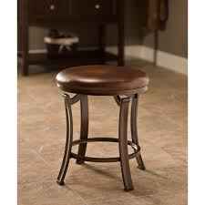 hilale furniture hastings antique bronze backless vanity stool