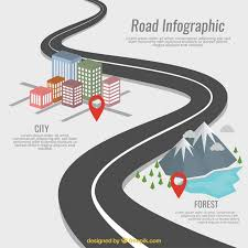 Road Infographic Vector Free Download