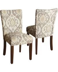 set of 2 parson dining chairs. homepop suri parson dining chair - set of 2 (raffia), brown (fabric chairs e