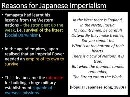 Reasons For Imperialism Ppt How And Why Did Japan Become An Imperial Power Powerpoint