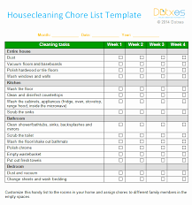 Household Cleaning Chore Chart Daily Chore Chart Template Lovely Customizable Chore Chart