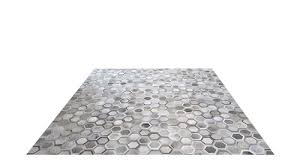 grey cowhide rug veronica design g1
