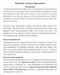 End User License Agreement Sample Metierlink Com