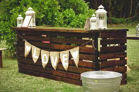 wood pallet wedding ideas. diy pallet bar wood wedding ideas