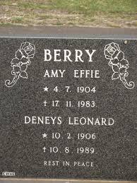 Deneys Leonard Berry (1906 - 1989) - Genealogy