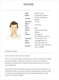 Simple Job Resume Template Sample For First Samples Basic