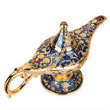 <b>Aladdin Genie Lamp</b>, Large size Colorful <b>Metal Genie Magic Lamp</b> ...