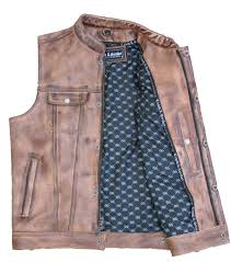 leather conceal and carry vest