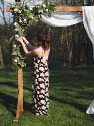 Diy Wood Wedding Arbor The Sorry Girls Thesorrygirls Decor Drapes Photobooth Photoshoot Summer Flower Arch Floral Wall Archway Affordable Curtains Backdrop