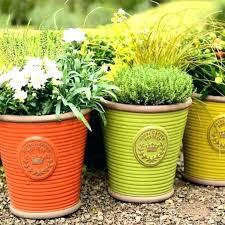 outdoor plant pots large plastic planters big garden pot extra