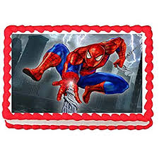 Amazoncom 14 Sheet Spiderman Edible Image Cake Topper Decoration