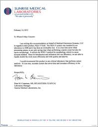 Sample Recommendation Letter For Medical Technologist Rome