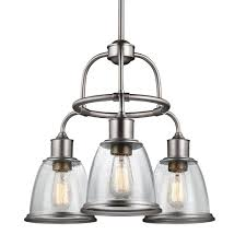 feiss hobson 3 light aged brass single tier chandelier shade