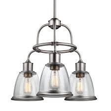 hobson 3 light aged brass single tier chandelier shade