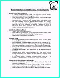 Nursing Assistant Resume Objective Certified Nursing Assistant Resume Objective Examples