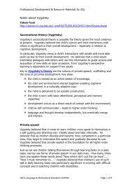 Scaffolding Definition Vygotsky Notes About Vygotsky