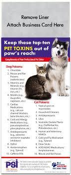 Pet Toxins Magnet Pet Safety