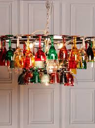 coloured wine glass chandelier inside favorite coloured glass chandelier view 9 of 20