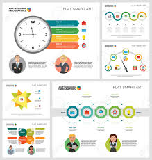 Consulting Charts Colorful Consulting Or Planning Concept Infographic Charts Set