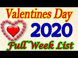valentine day 2020 full list