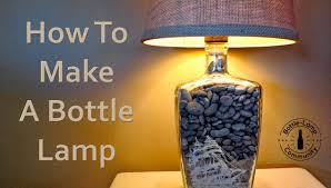 Glass Bottle Lamps How To Make A Bottle Lamp Diy Youtube