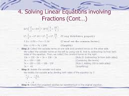 solving linear equations involving fractions cont
