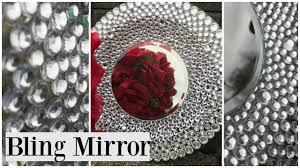 dollar tree diy bling wedding theme mirror